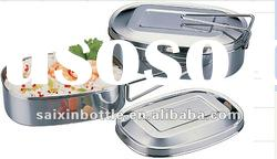 round shape stainless steel lunch box