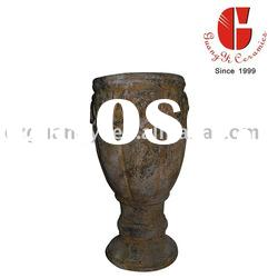 terracotta flower pot with cup shape