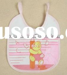 100% cotton terry with printed cute bear baby bib