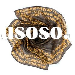 2011 New Arrival Brand Designer Real silk Scarf Letter Style