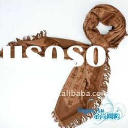 2011 new arrival hot sale brand name scarf /real silk scarf/ long Shawl Pashmina