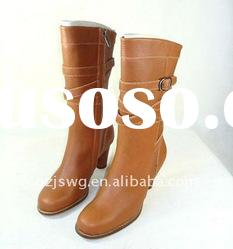 2011 popular designer comfortable winter fashion ladies high heel boots with best price