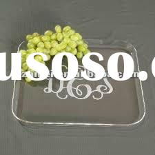 2012NEW HOT SALE clear acrylic tray with handle