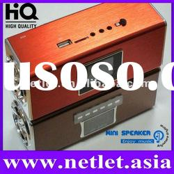 2012 China Newest High Quality Rechargeable FM Mini Speaker