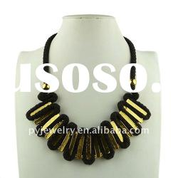 2012 Hot Selling Black String For Necklace, Cotton Rope Choker Necklace