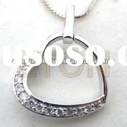 2012 hot sale wholeals top quality fashion 925 sterling silver heart shaped pendant (P3033)