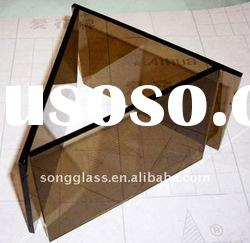 4,5, 6mm Dark Brown Reflective Float Glass