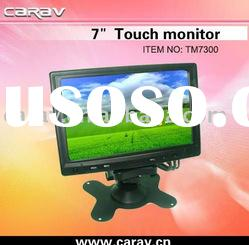"""7"""" Digital Touch Screen Car Monitor with USB/RS232/VGA/RCA"""