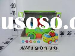 BO universal cartoon fruit car toy with music and light/ Plastic Baby toy