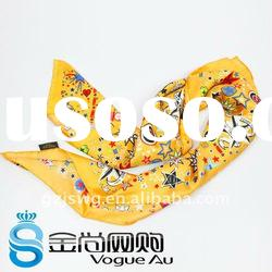 Beautiful and useful square twill real scarf for women