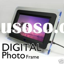"Black 7"" LCD Digital Photo Picture Frame"