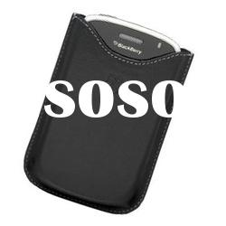 Black Leather Case Pouch For Blackberry Torch 9000