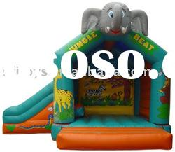 Elephent inflatable bouncer slide combo in commercial use