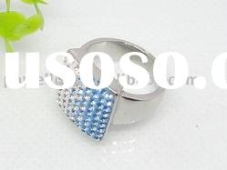 Fashion Stainless steel square Shape stone Ring