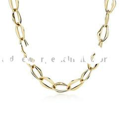 Fashion gold themed jewelry 925 imitation fashion silver necklace