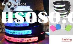 LED pet dog collars and leash