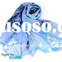 Latest hot sell top design Excellent quality italian silk scarf/lady long scarf
