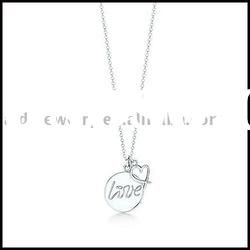 Love silver necklace & fashion charms jewelry