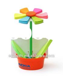 MEMO FLOWER - flower Shaped Post-it Note Holder / Sticky Note Holder ! Much more than a Stickey memo