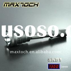 Maxtoch SN51 18W 1300LM 18650 High Power LED Aluminum Search Luminus Rechargeable SST50 Flashlight