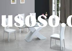 Modern glass top dining table DS9009A