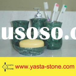 Natural Green Marble Bathroom Products