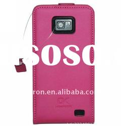 New Hot Pink Genuine Leather Pouch Belt Case For Samsung Galaxy S II i9100