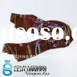 New fashion lady design real silk scarf with beautiful pattern