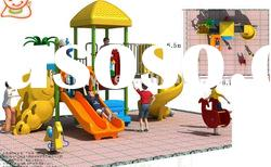 Outdoor Playground Equipment /Combined Slide MT-120102-1 from Guangzhou Cowboy Toys