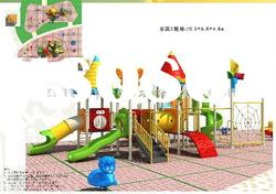 Outdoor Playground Equipment /Combined Slide MT-120103 from Guangzhou Cowboy Toys