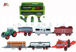 Plastic Car Toys Tractor trailer farm tractor toys car carrier truck