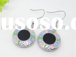 Round Shape Stainless steel Epoxy Earring