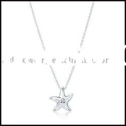 Star silver necklace & silver jewelry necklace
