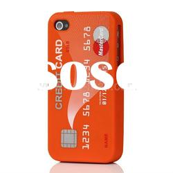 Stylish Credit Card Silicone Case Cover for iPhone 4 4S