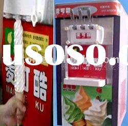 Three flavor soft ice cream maker with high quality