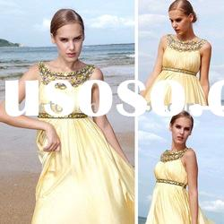 Wholesale 2010 hot sale spaghetti strap beaded evening dress 80091