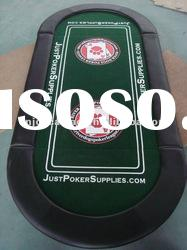 casino oval three-foldable poker table top