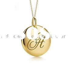 fashion golden charm necklace