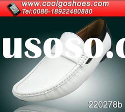 generous fashion boat shoes for men with white color pu upper made in Guangzhou China
