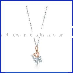 silver jewelry with diamond, silver charm necklace, new design in 2011