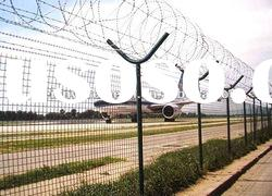 weian PVC/galvanized airport fence (manufacture)