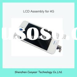 white mobile phone lcd touch screen board for iphone 4g