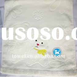 100%cotton jacquard embroidery face towel