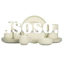 16pcs sand color ceramic dinner set dinnerware