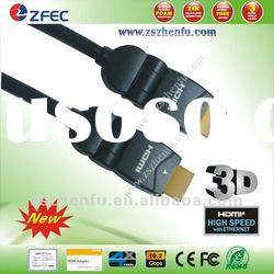 180 degree Rotary HDMI Cable Support 1080p & Ture HD Resolution