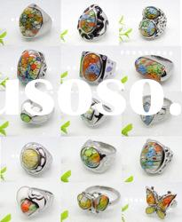 2011 new style Stainless steel Murano Glass ring
