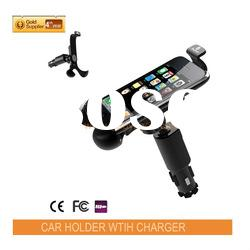 2011 newest protable convenient high quality car 5 mount for iphone with 360 degrees rotation