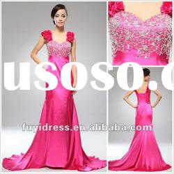2012 Attravtive and Luxury Long Beaded Prom Dress