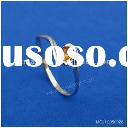 2012 Elegant royal style topaz jewelry stainless steel ring