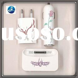 2012 HOT! HOT!! Popular Charger 3 in 1 USB Charger set for i-phone